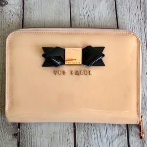 TED BAKER Pink/Black Rose Gold Clutch or Wallet